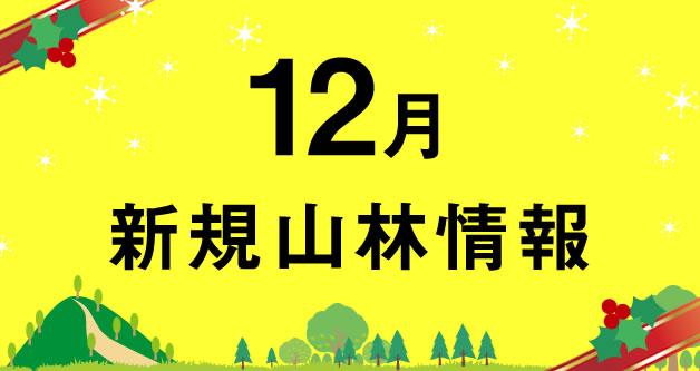 12月の山林売買情報(本日より100件以上の新規情報を毎日追加掲載予定)
