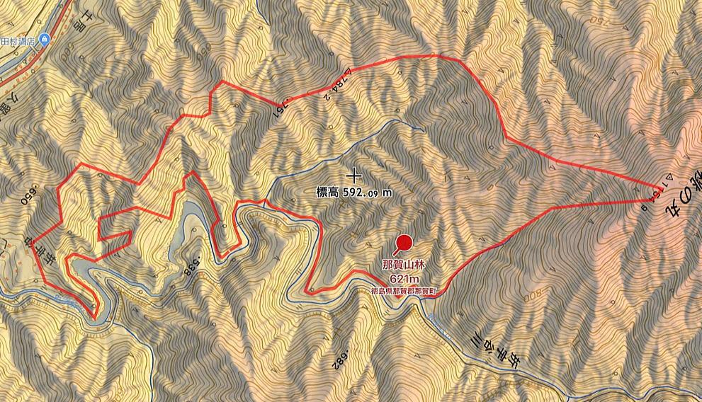 徳島県那賀郡那賀町木頭折字字折 所在の実測32万坪の山林です。(1250万円)